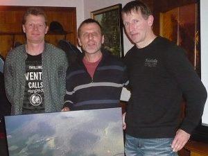 Thomas Dieterle (Mitte) wurde von den beiden FBG-Vorsitzenden Stefan Schmieder (links) und Bernd Dieterle (rechts) verabschiedet